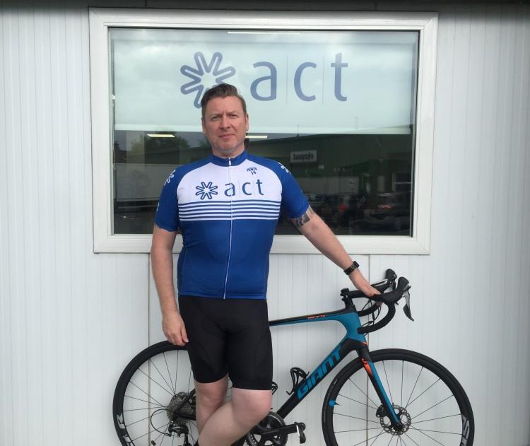 Derek in ACT cycle kit