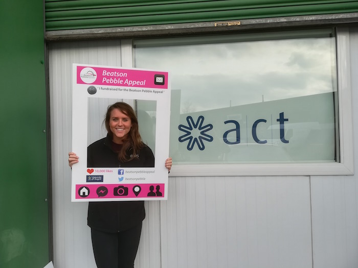 ACT's Anna hands over charity cheque